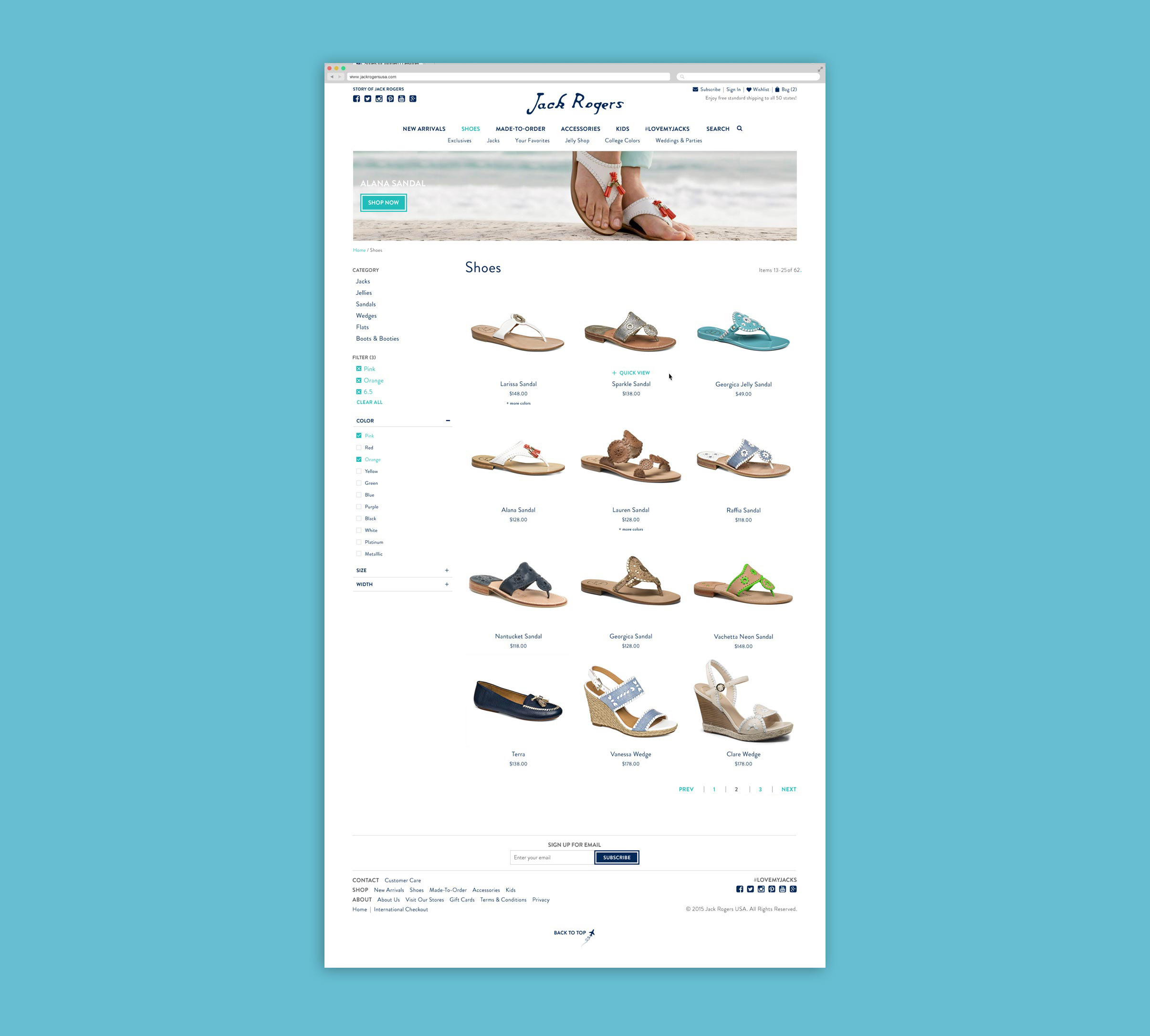 Jack Rogers Category Page