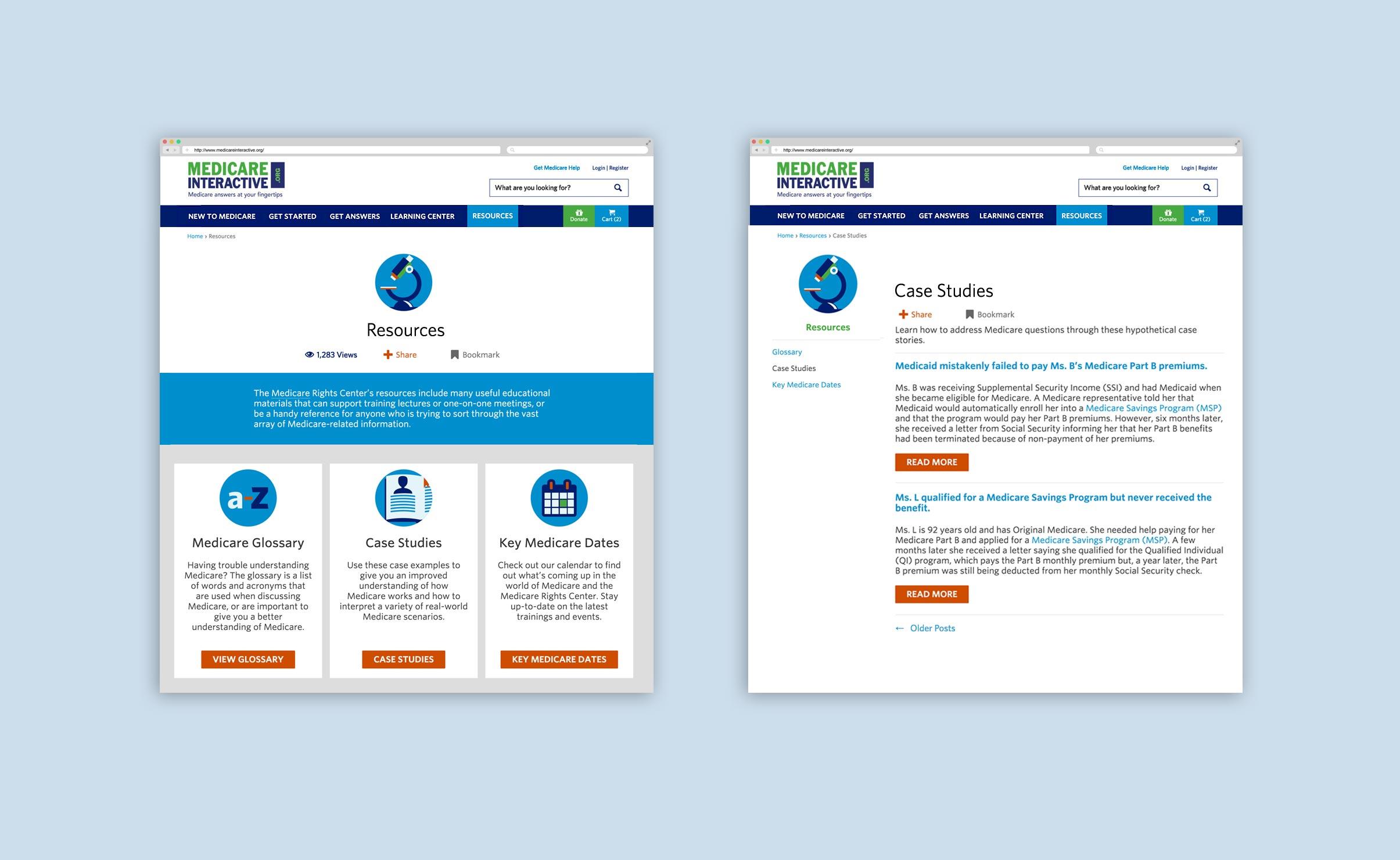 Medicare Interactive Desktop Screens